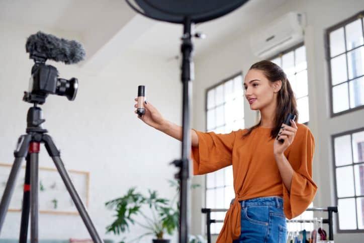 Makeup Influencer Promoting a Brand
