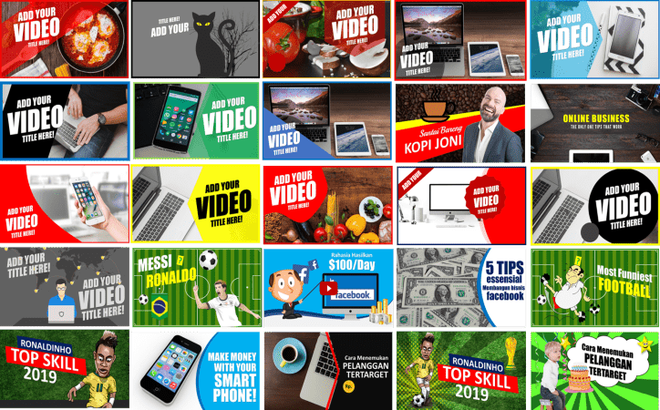 YouTube gallery thumbnails | Improve Video Marketing Strategy