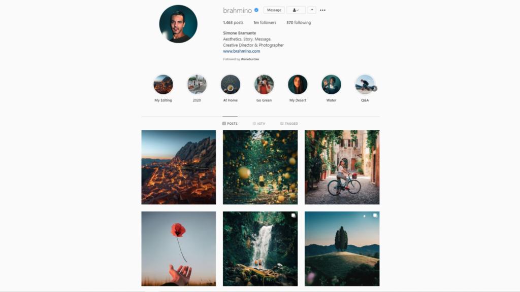 Simone Bramante's Instagram   Creative Director