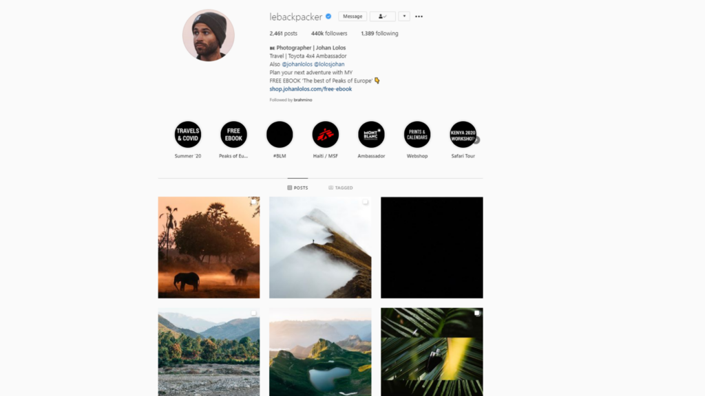 Johan Lolos   lebackpacker instagram