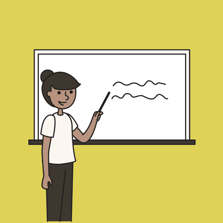 woman writing on the whiteboard - content instructions for nano influencers