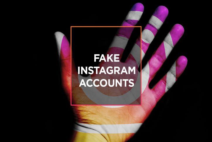 Fake Instagram Accounts Hand Graphic