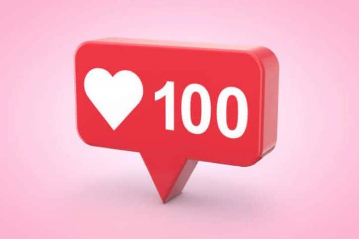 Social Media Numbers - 100 Likes