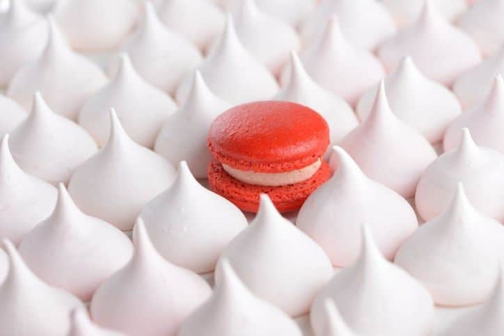The Only Red Macaroon