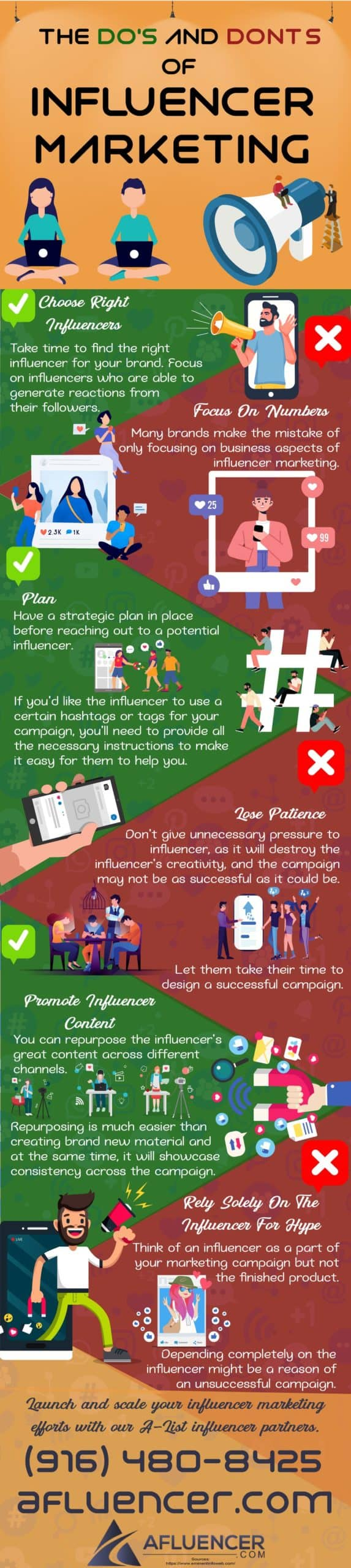 Do's and Don'ts of Influencer Marketing | Afluencer Infographics