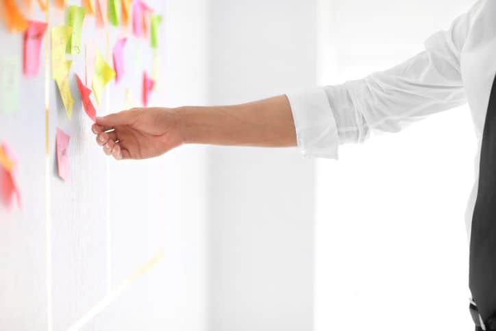Influencer Marketing Measures - organizing post-its