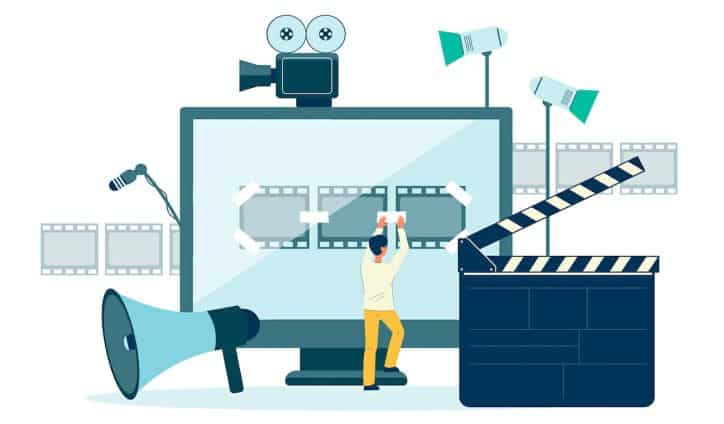 Illustration editting video clip