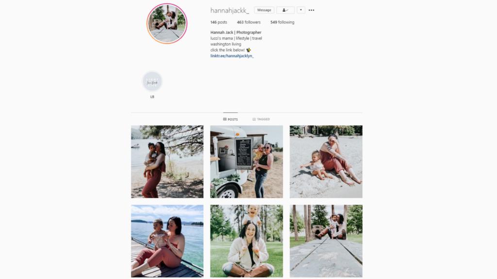 Hannah Jacklyn Insta Profile   Photographer Influencer