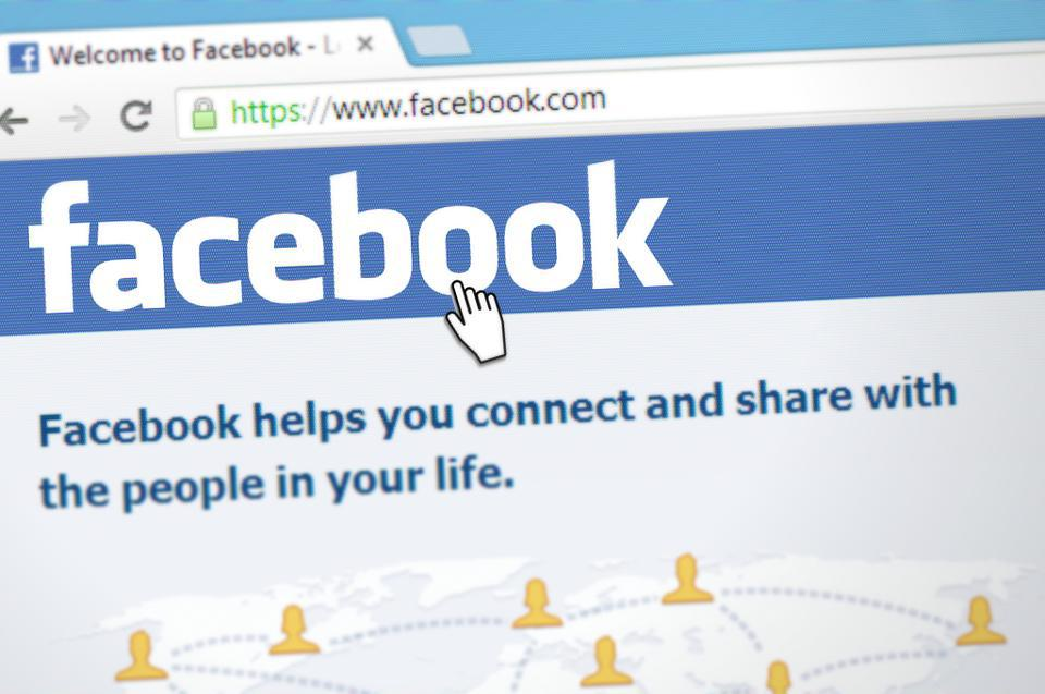 Facebook Website Home Page