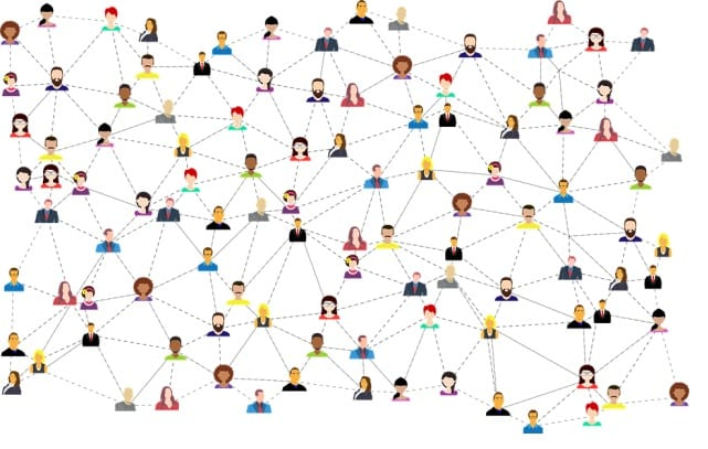network of small brands and influencers