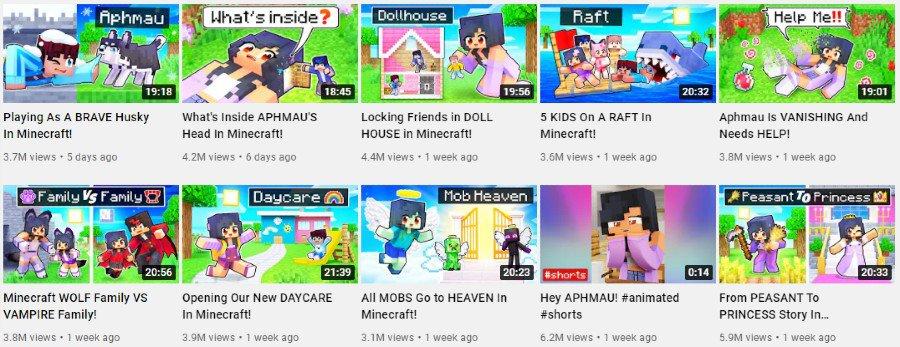 Aphmau   Minecraft gaming videos on YouTube