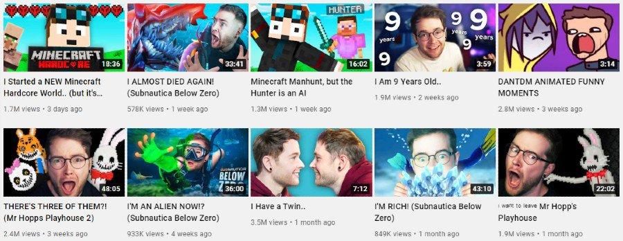 DanTDM   Youtube video highlights