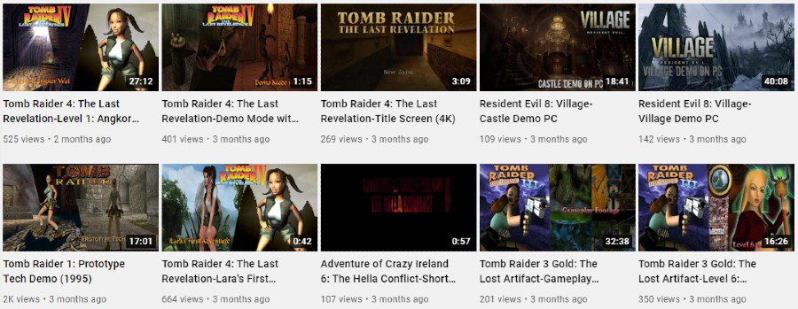 Eddy's Tomb Raider Channel   YouTube Video Gallery