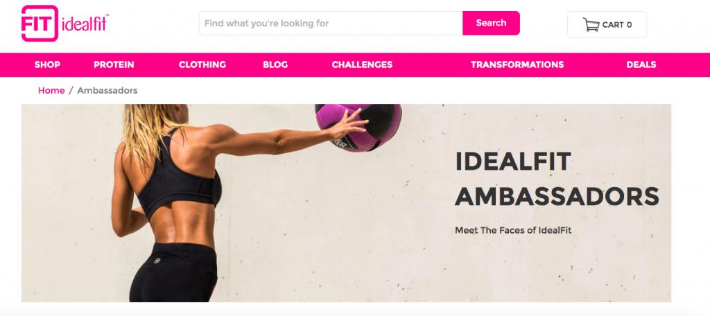 idealfit ambassador program