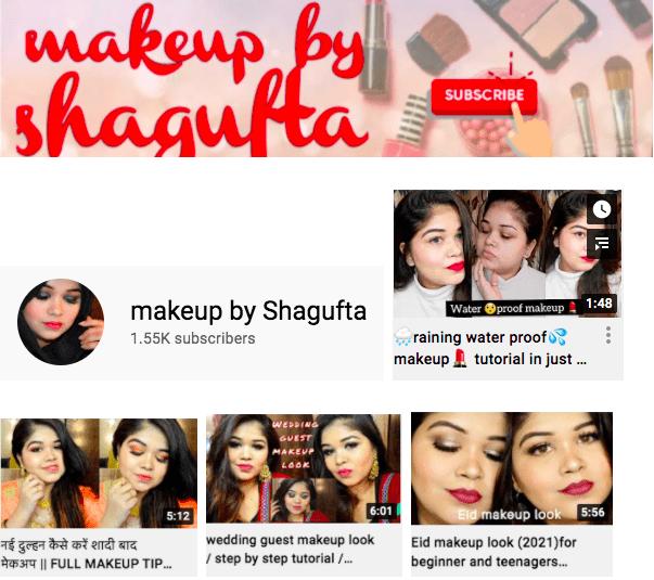 Shagufta Khan | Makeup video thumbnails