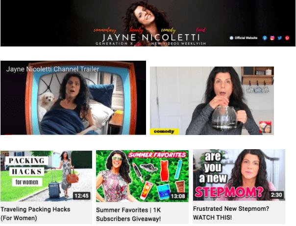 Jayne Nicoletti | Youtube influencers featured on Afluencer