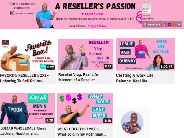 Leslie Tucker | Reselling Coach | YouTube Influencers