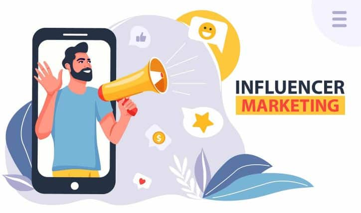 Influencer Marketing | Man talking into megaphone | Campaign Strategy