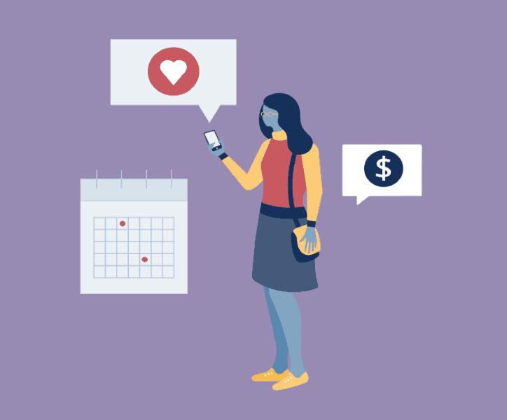 Illustration of influencer buying followers