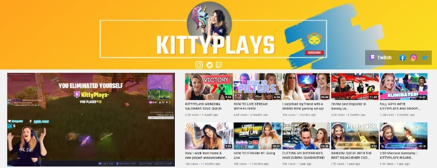 Kitty Plays   Girl Gamer on Twitch and YouTube