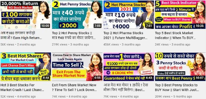 Kritika Yadav   Stock Market Influencer   YouTube Videos