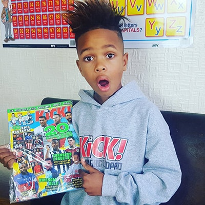 Tekkerz Kid Posing with Football magazine