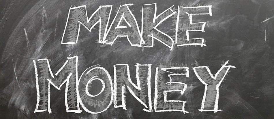 Make money chalk writing on black board