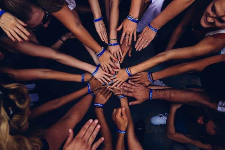 Team Huddle Hand-Stack | Influencer Community
