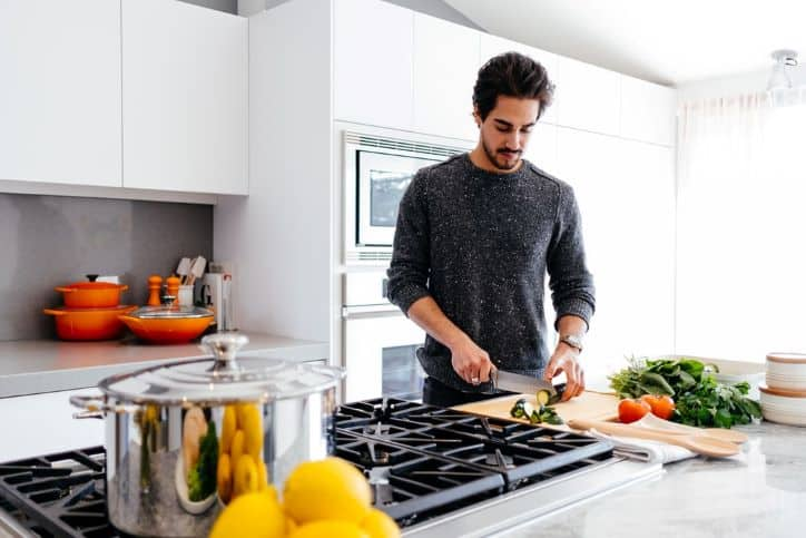 Food Influencer Prepping Vegetables in the Kitchen
