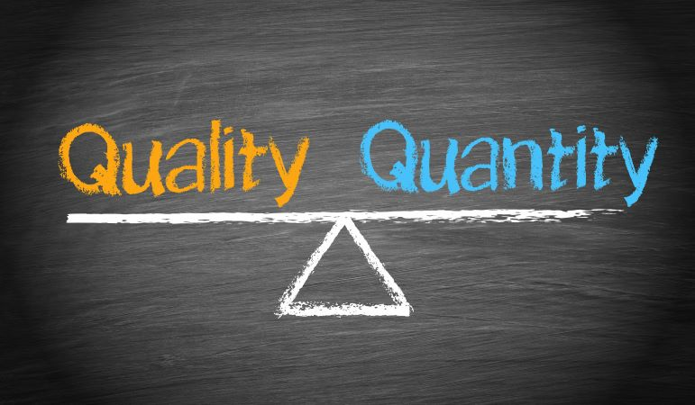 Text Quality and Quantity on a weighing scale
