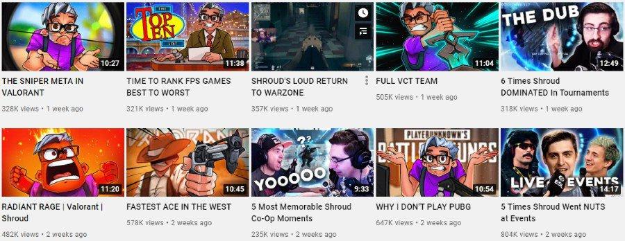 Shroud   YouTube Video Gallery