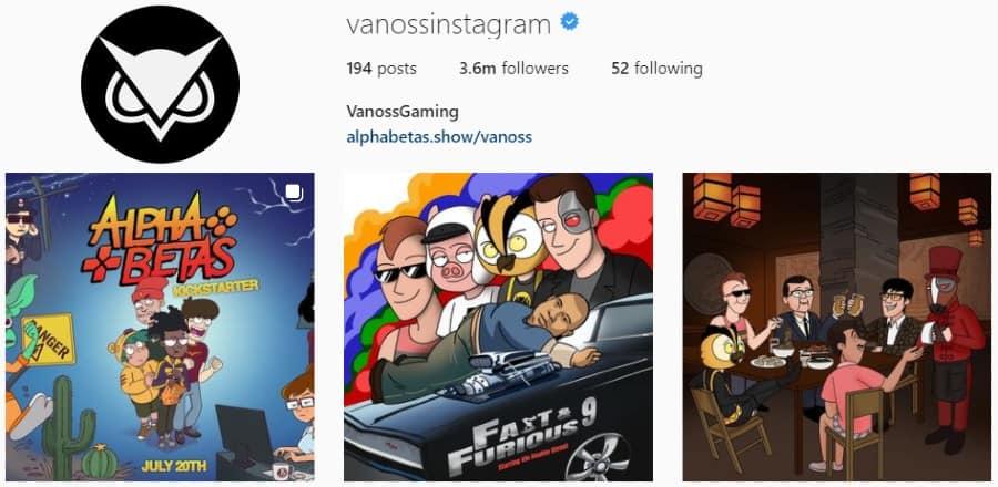 VanosGaming   Instagram Profile and Posts