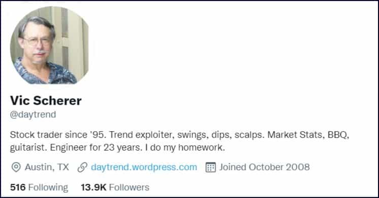 Vic Scherer - Daytrend - Twitter Profile
